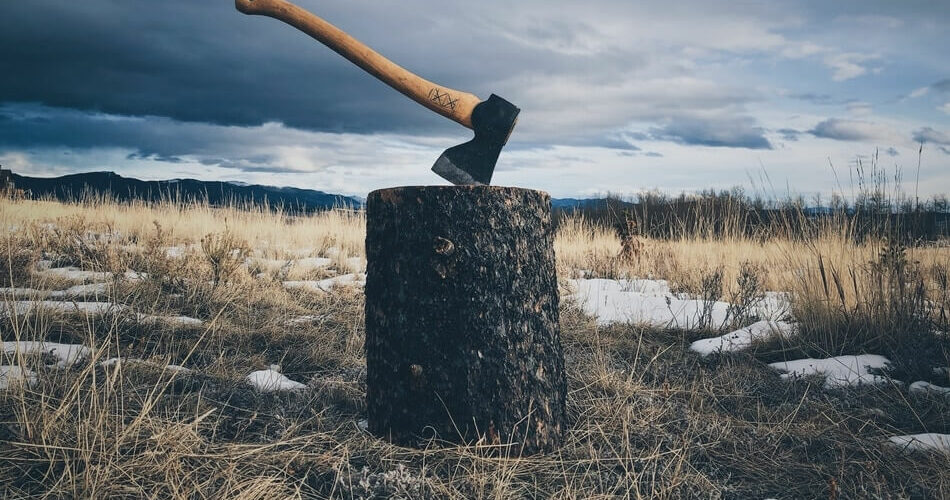 An axe ready to be used for pun inspiration