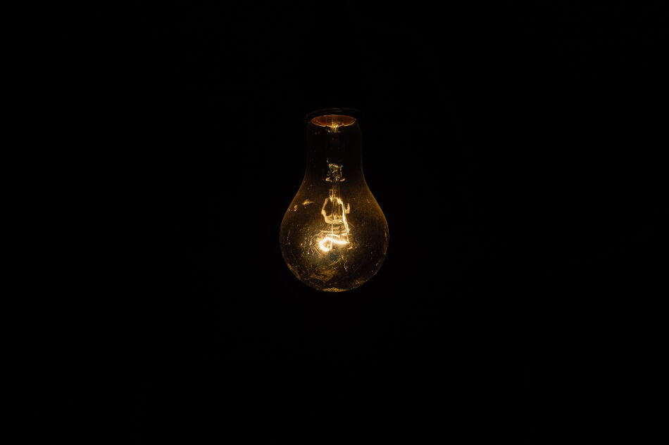A bulb powered by electricity