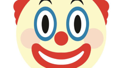 A silly emoji used for clown jokes and puns