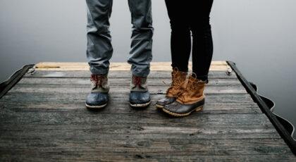 Two people providing inspiration for leg puns and leg jokes